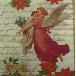 Anjos e Flores no Fundo Creme Musical (115)