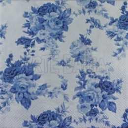 Rosas Azuis no Fundo Branco (016)