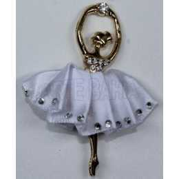 Bailarina com Saia Branca - Mini