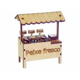 Comércio - Banca de Peixe Fresco - 9x5x10,5cm