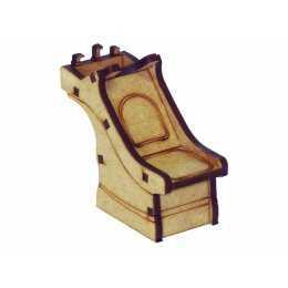 Salão de Beleza - Cadeira Lavatório - 7x3x5,7cm