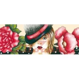 LB663 - Moça com Chapéu e Flores