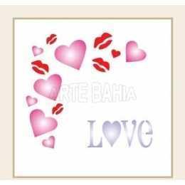OPA0501 - Cantoneira Love - 10x10cm