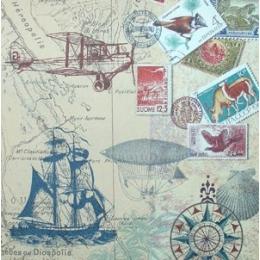 Selos e Viagens ao Mar no Fundo Camurça (686)