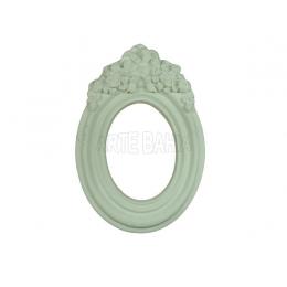 LLM-009 - Moldura sem Espelho - Oval Aplique Rosinha