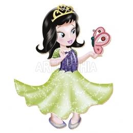 Aplique em Papel e MDF - APM8 - 334 - Princesa Vestido Verde