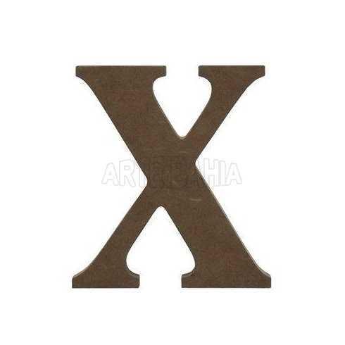 Letra de MDF - X