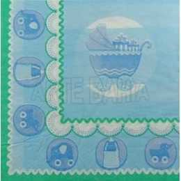 Guardanapo Carrinho de Bebê Fundo Azul (022)