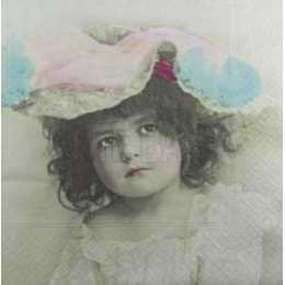 Menina de Chapéu Colorido F1021