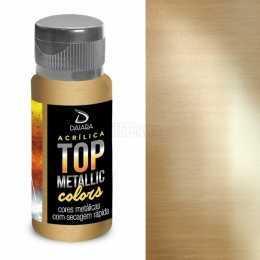 Tinta Acrílica Top Metallic 60ml - Dourado Egípcio 235 - Daiara