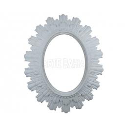 LLM-047 - Moldura com Espelho -Oval com Raios