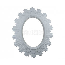 LLM-047 - Moldura com Espelho -Oval com Raios - 23x28cm
