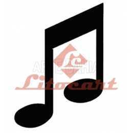Aplique em Papel e MDF - LMAPC211 - Nota Musical