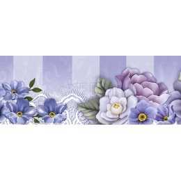 BDAIV082 - Flores Roxas e Borboletas