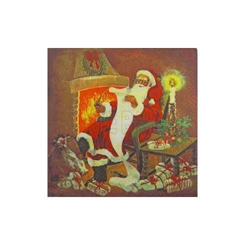 Papai Noel Sentado com Carta (114)
