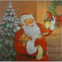 Papai Noel com Luminária e Urso (553)