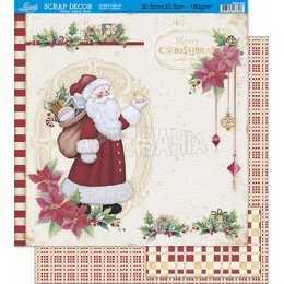 Folha para Scrapbook Dupla Face SDN-036 - Natal