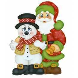 APMN8-004-Natal - Papai e Boneco de Neve