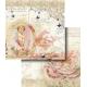 Folha para Scrapbook Dupla Face - LSCD329 - Anjo na Moldura com Escritos