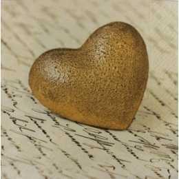 Coração Dourado com Escritos no Fundo (455)