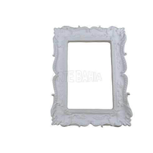 LLM-076 - Moldura sem Espelho - Retangular com Flores e Arabescos