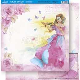 Folha para Scrapbook Dupla Face - SD511 - Princesa