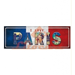 Aplique em Papel e MDF - LMAPC360 - Placa Paris