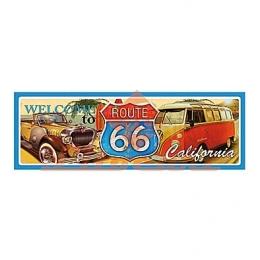 Aplique em Papel e MDF - LMAPC363 - Placa Route 66