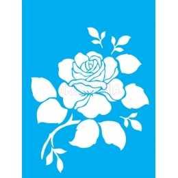 LSM027 - Rosa com Folhas