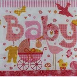 Guardanapo Coisas de Bebê - Baby Rosa (564)