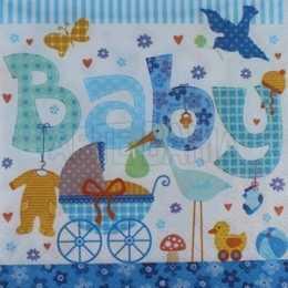 Guardanapo Coisas de Bebê - Baby Azul (563)