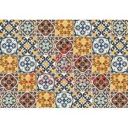 Papel para Decoupage LD829 - Azulejo Colorido