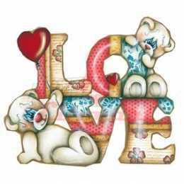 Aplique em Papel e MDF - LMAPC388 - Love