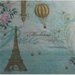 Torre Eiffel, Rosas e Balões - Paris (901)