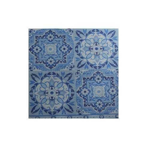 Arabescos em Tons de Azuis - Azulejo (892)