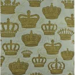 Coroas Douradas no Fundo Creme em Relevo (947)