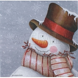 Boneco de Neve no Fundo Cinza (166)