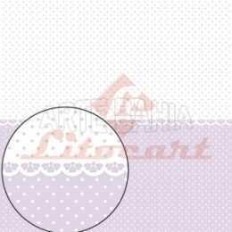 LSC268 - Bolinhas Branca e Lilás