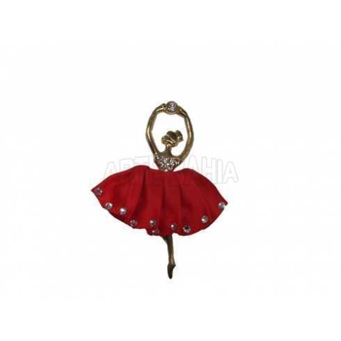 Bailarina com Saia Vermelha - Mini