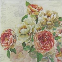 Flores no Fundo Creme com Escritos (764)