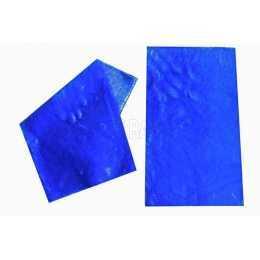 Tecido Sintético de Pelúcia - Azul Escuro - 17x30cm