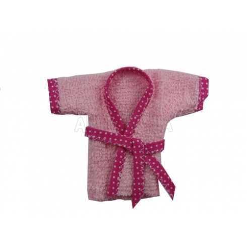 Roupão de Banho - Rosa Viés Pink