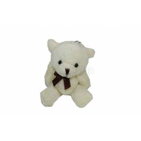 Urso de Pelúcia - 8,5cm - Marfim - Articulado