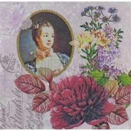Flores e Moldura com Dama Antiga (236)