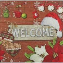 Placa Welcome com Enfeites de Natal  (271)