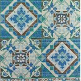 Azulejo em Tons de Azul e Turquesa (94)