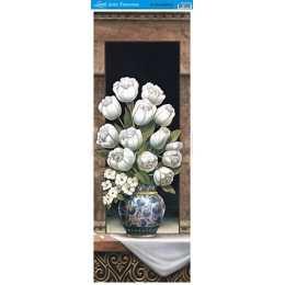 Papel para Arte Francesa 23x62cm - AFVE018-Papoulas Brancas