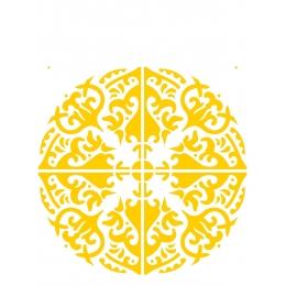 Stencil de Acetato OPA 20X25cm - OPA 2285 - Mandala