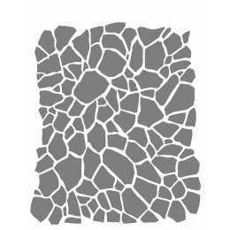 Stencil de Acetato OPA 20X25cm - OPA 2266 - Estamparia Craquelê