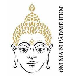 Stencil de Acetato OPA 20X25cm - OPA 2288 - Buda